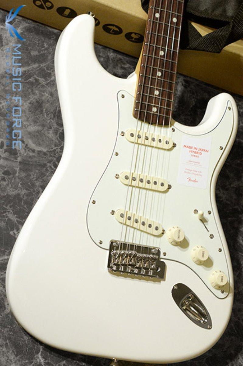 [창사11주년기념세일!!!] Fender Japan Hybrid 60s Stratocaster-Vintage White  w/Rosewood FB (2017년산/신품) 펜더 재팬 하이브리드 60s 스트라토캐스터