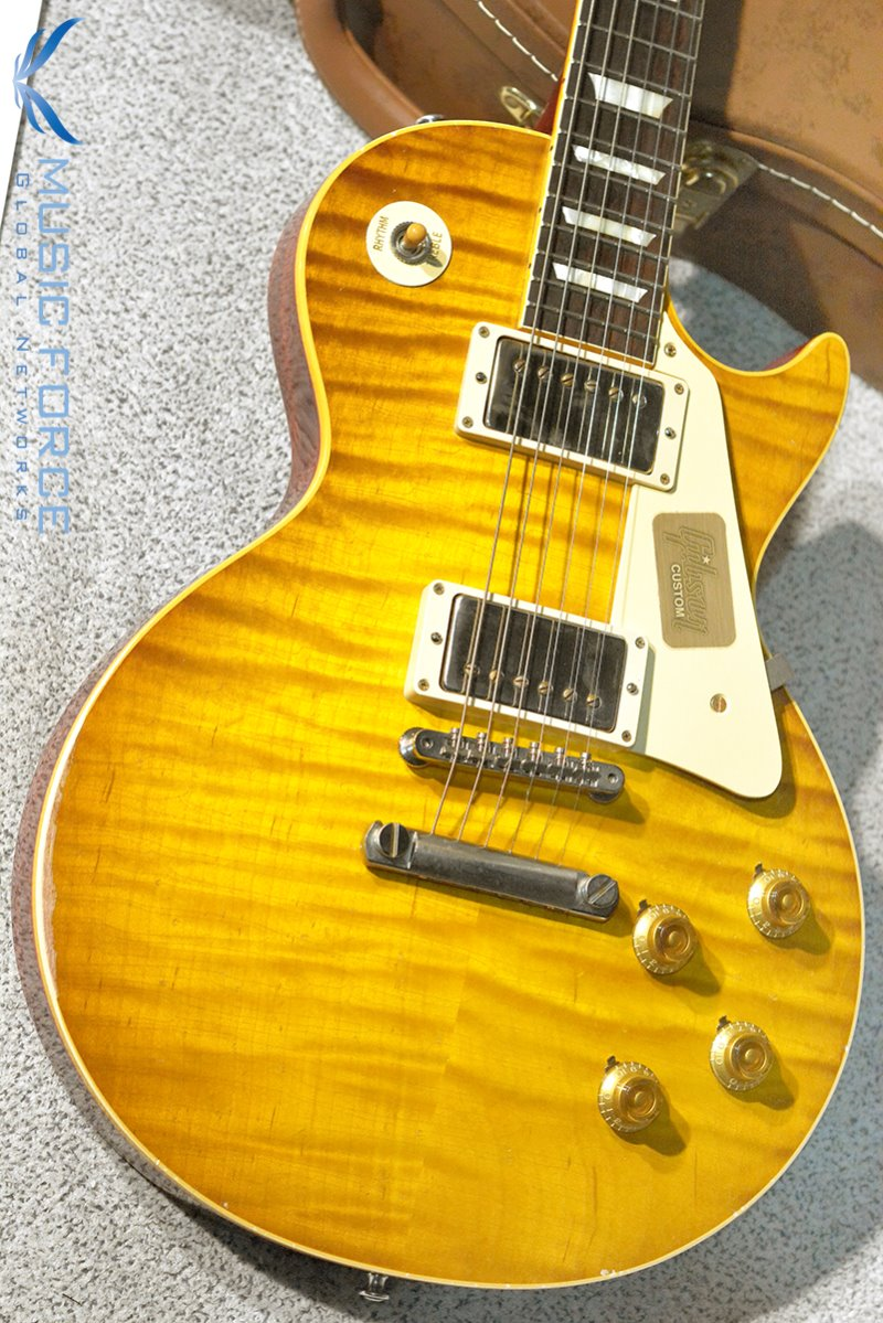 [중고] Gibson Custom Historic Select(True Historic Spec) 1959 Les Paul Reissue 'Murphy Burst(Painted) & Aged'-Green Lemon LTD(2016년산/Mint급 중고제품)