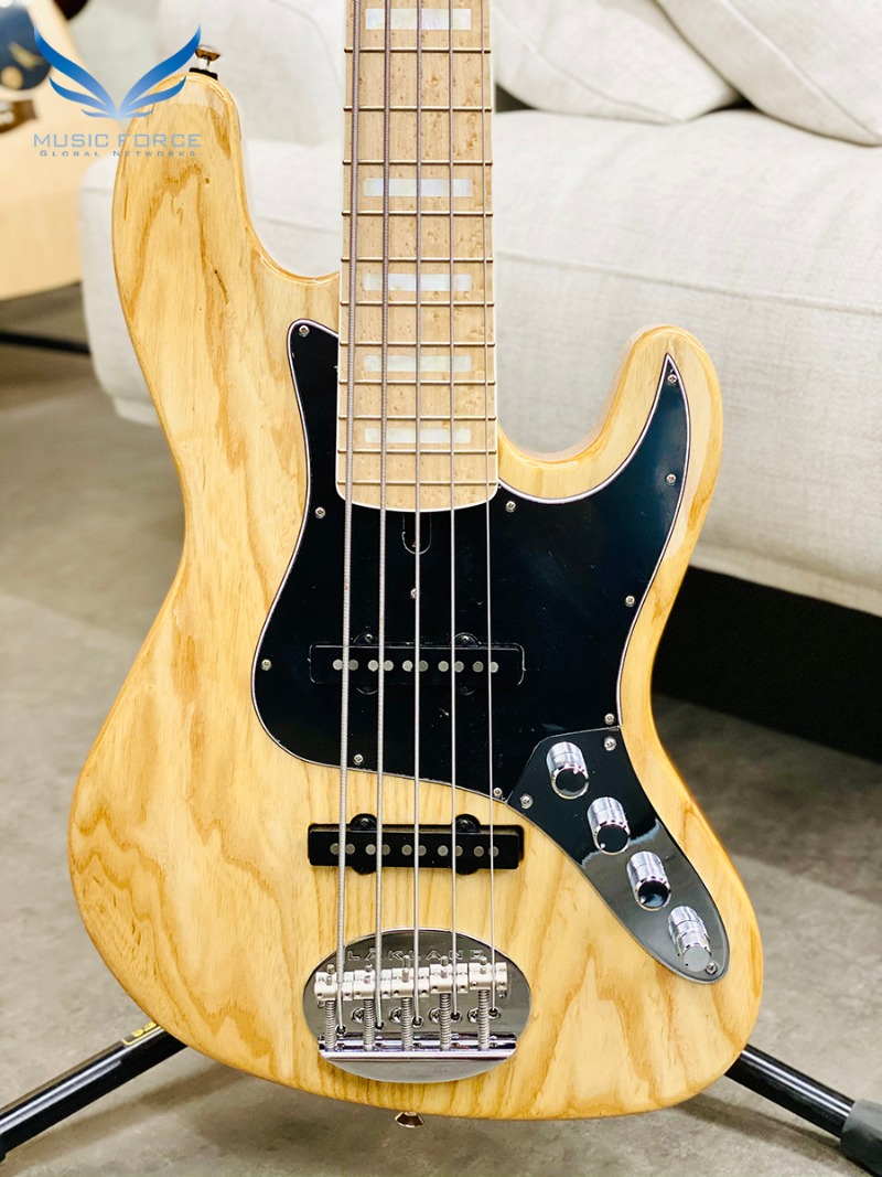 [2021 Spring Sale(~4/30까지)] Lakland US Custom 55-60 Vintage J Bass-Natural w/Active Preamp, MOP Block Inlay & White Binding(2019년산/신품)