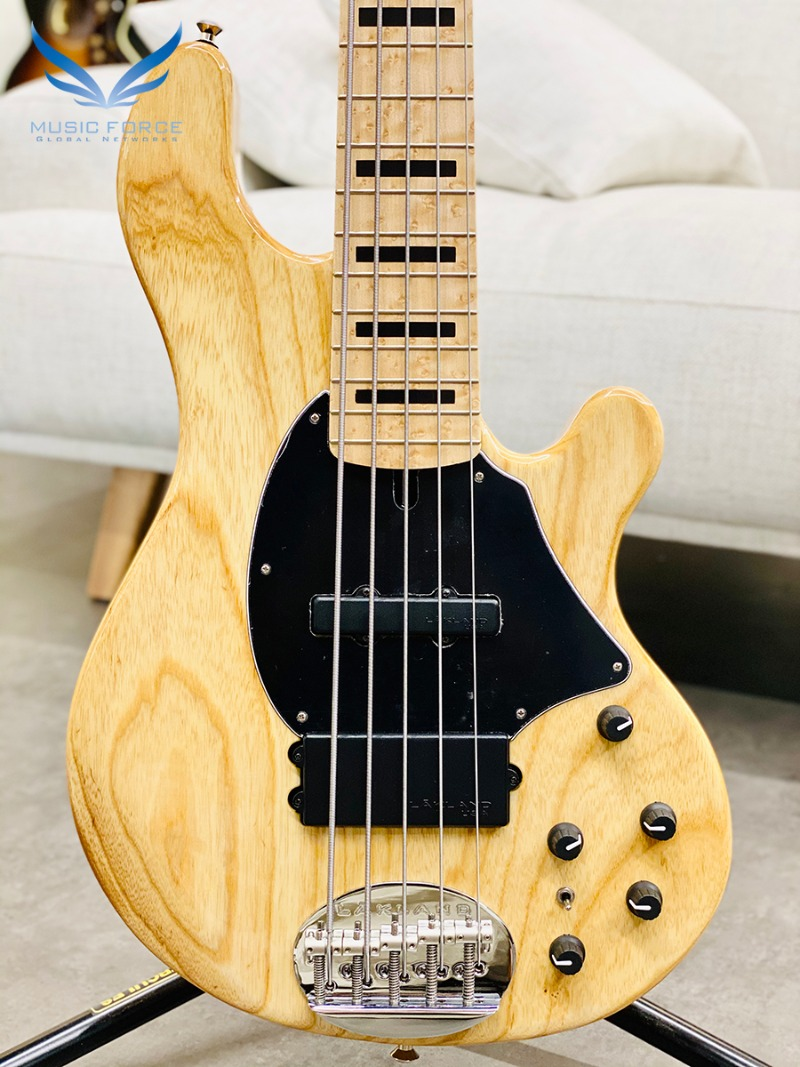 [2021 Spring Sale(~4/30까지)] Lakland US Custom 55-94 Standard-Natural w/Roasted Birdseye Maple Neck, Birdseye Maple FB & Black Block Inlay(2019년산/신품)