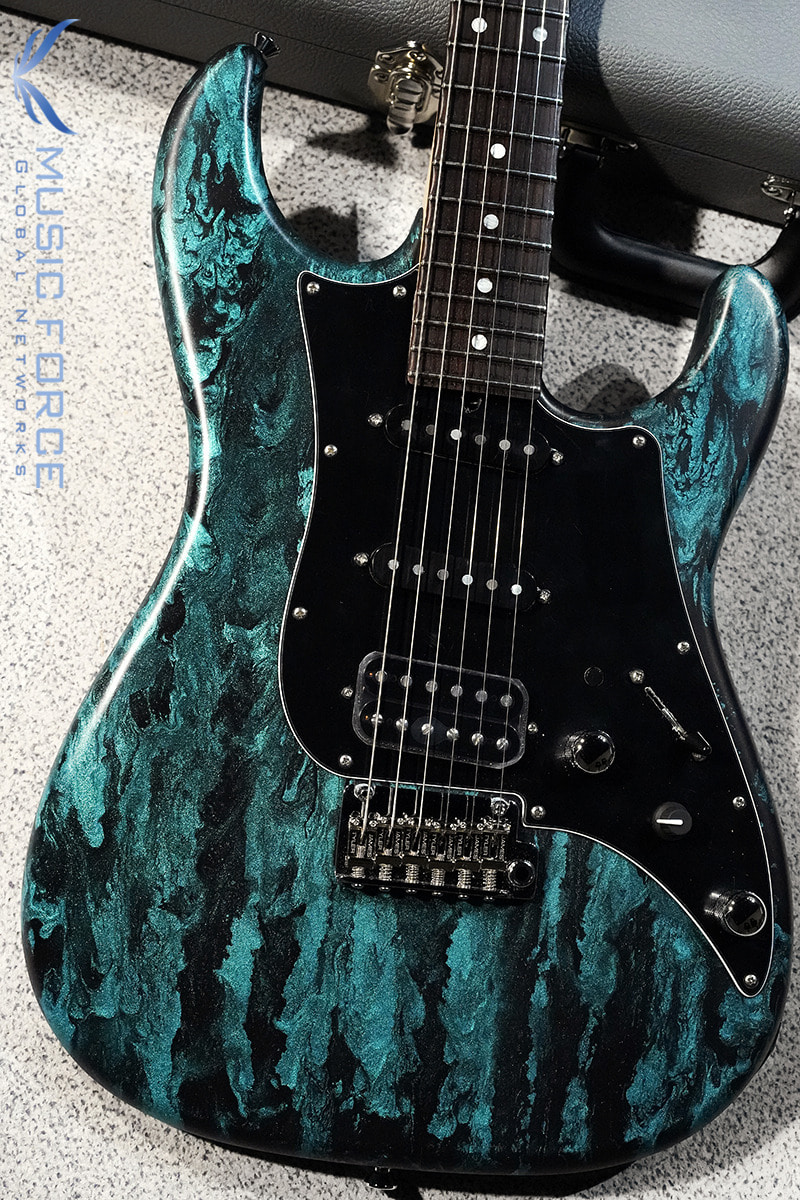 James Tyler USA Studio Elite HD-Black Shmear with Turquoise Tint Semi-Gloss SSH w/Indian Rosewood FB, Black Headstock, Midboost & Bypass Button(2020년산/신품)
