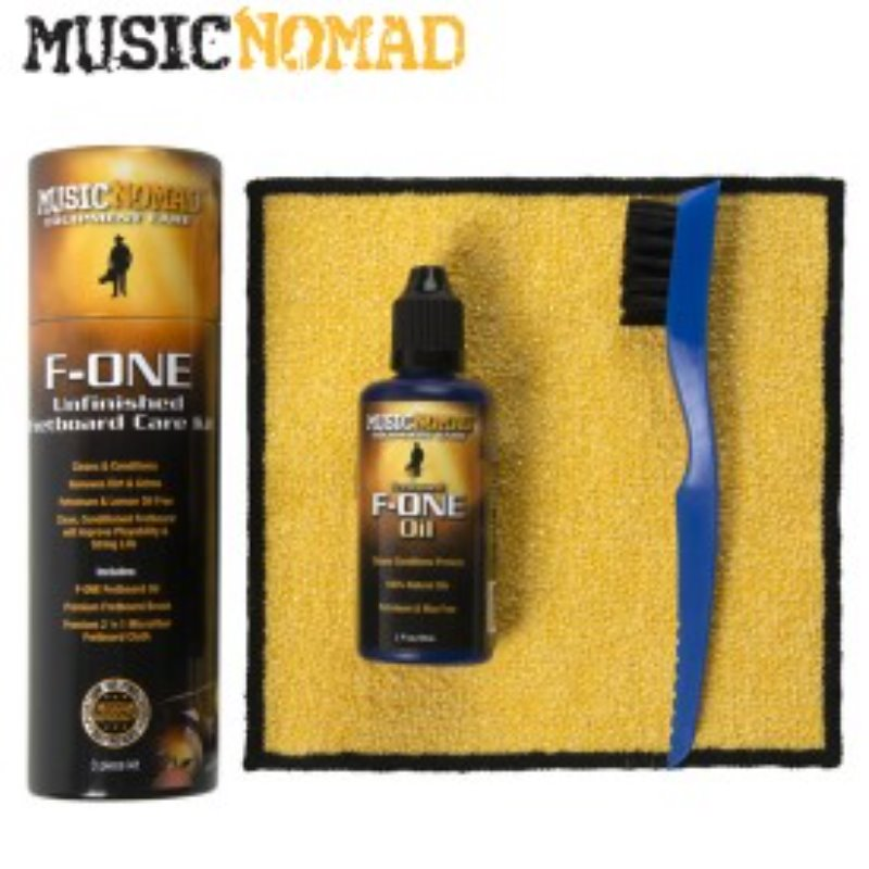 [Music Nomad] F-ONE Unfinished Fretboard Care Kit - Oil, Cloth, Brush - 3 pc - 지판 관리 용품 필수 팩키지!!!
