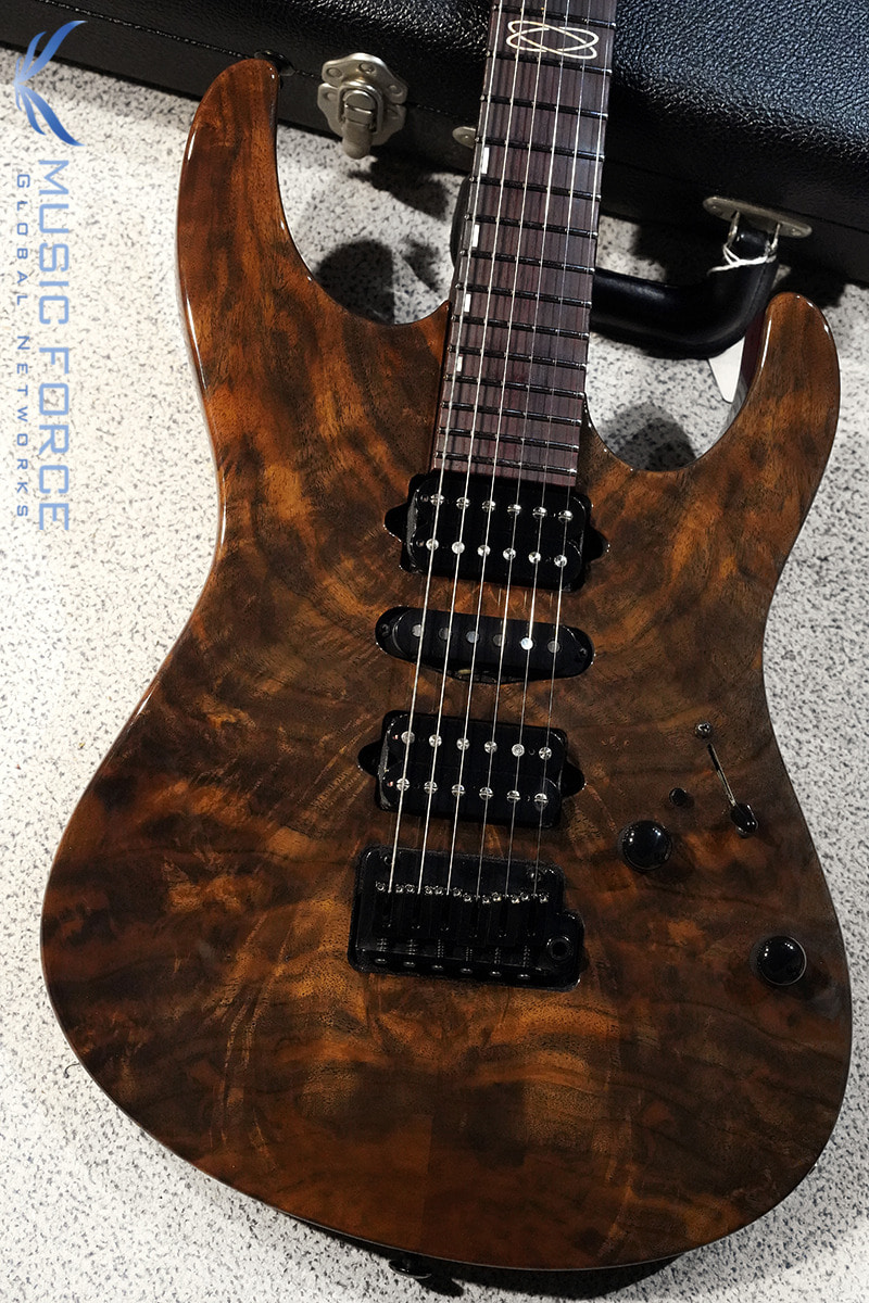 [이월상품창고대방출!!!] Suhr Custom Modern HSH Claro Walnut Top(Custom Top Wood Selection) w/Double Oval Inlay, Cocobolo Neck & Black HW(2015년산/신품)