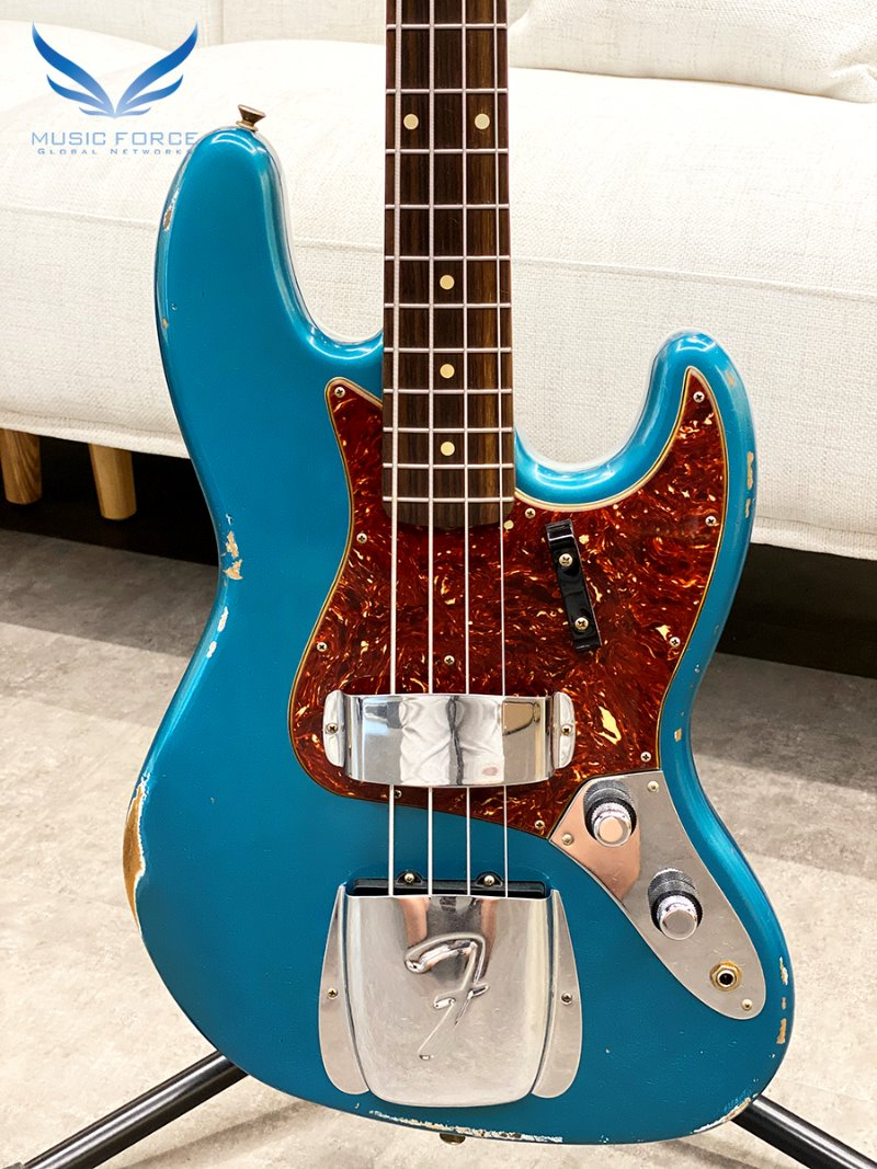Fender Custom Shop 1960 Jazz Bass Relic LTD-Aged Ocean Turquoise (신품)
