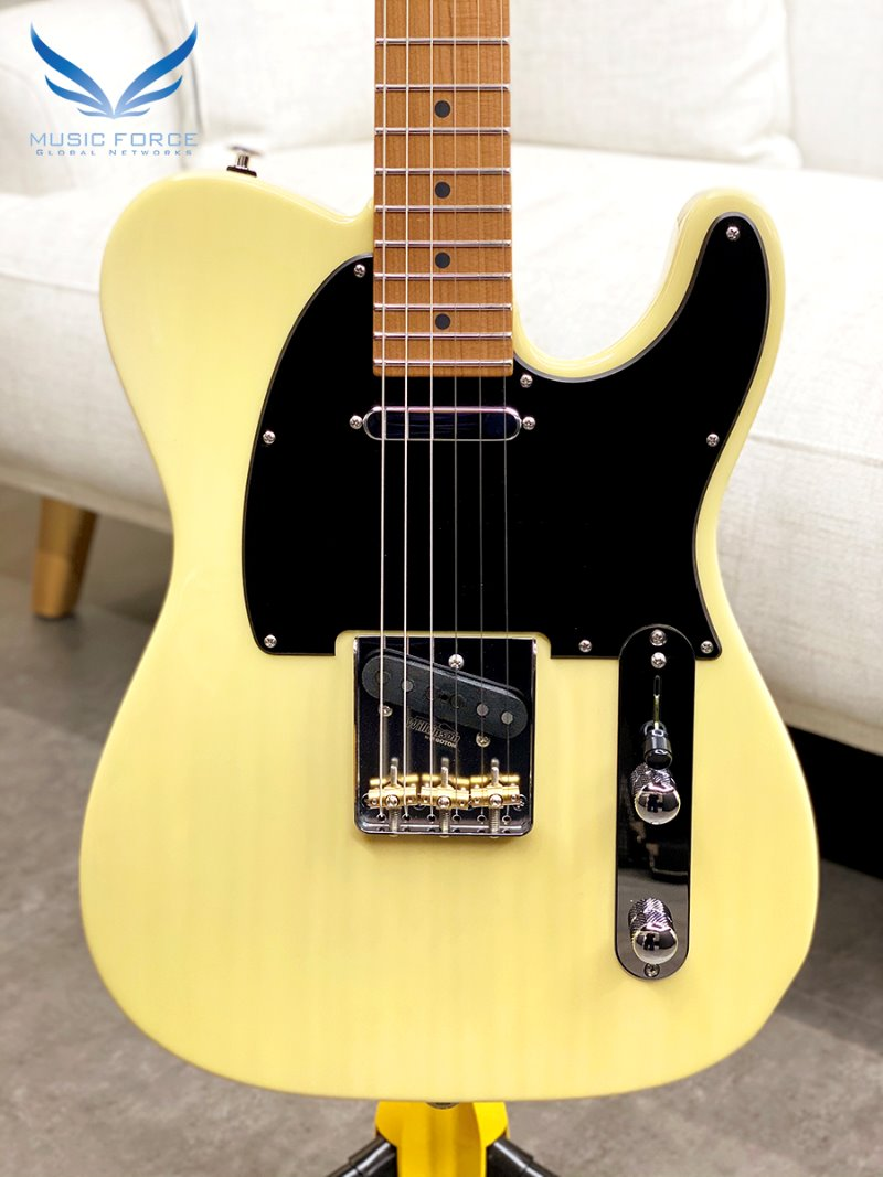 Suhr Classic T Paulownia Limited Edition-Trans Vintage Yellow w/Roasted Maple Neck & SSCII System (2020년산/신품)-JS0R4N