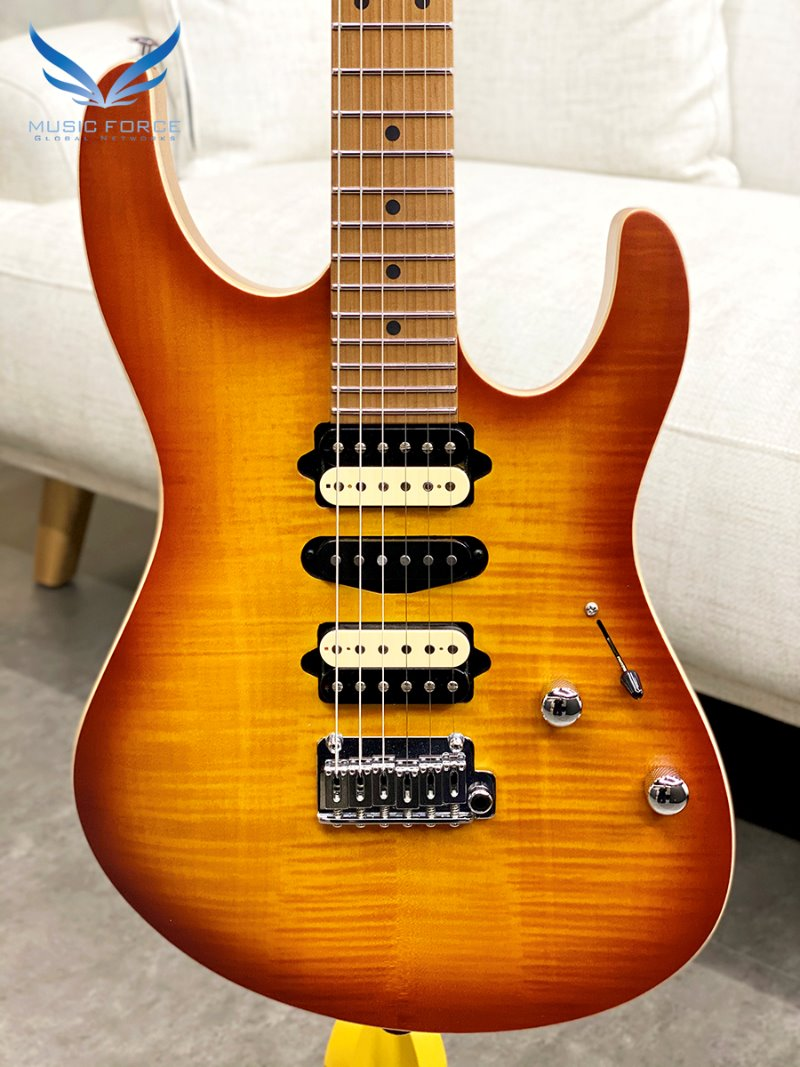 [파이널세일(~12/31까지)] Suhr Modern Satin Flame Limited Edition-Honey Burst w/Roasted Maple Neck and FB(2020년산/신품)-JS7F2D