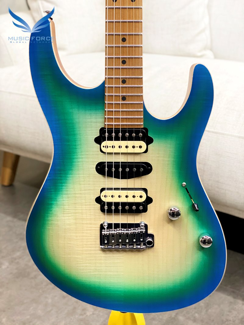 [파이널세일(~12/31까지)] Suhr Modern Satin Flame Limited Edition-Island Burst w/Roasted Maple Neck and FB(2020년산/신품)-JS0W9Y