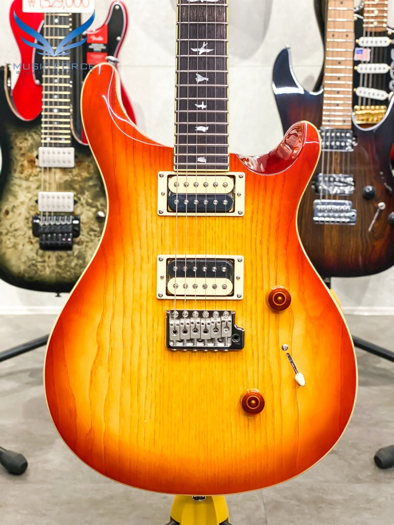 [Outlet 신품(Blem)특가!!!] PRS SE 2021 Model Custom 24 Exotic Limited Burled Ash-Vintage Sunburst (신품) - CTIC49001